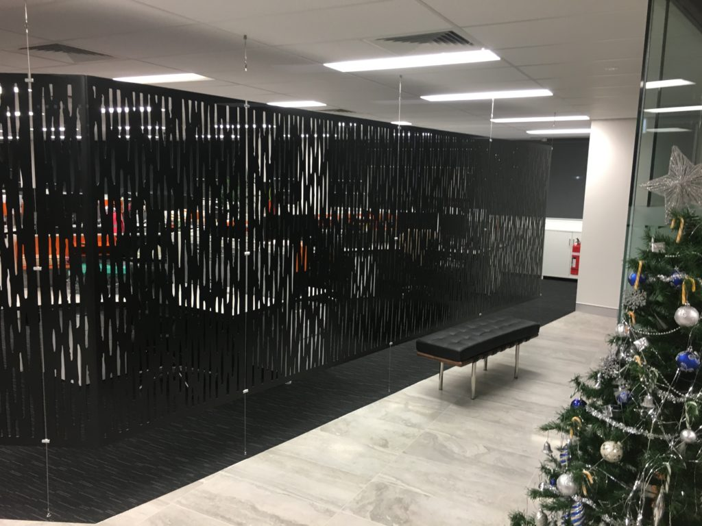 Aluminium suspended wall screens 7